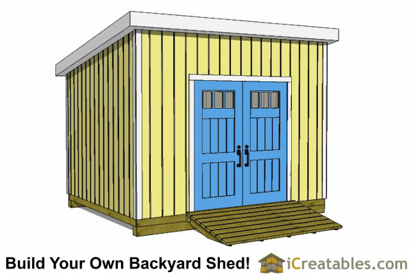 10x12 lean to shed plans door on high side