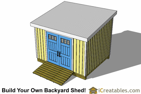 10x12 lean to shed top