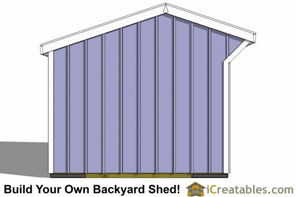 10x12 run in shed end