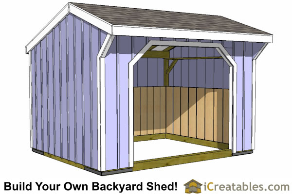 10x12 modern shed plans double door on end