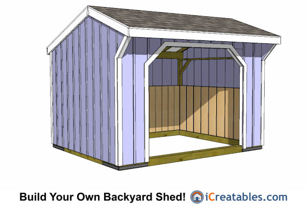 10x12 Run In Shed Plans