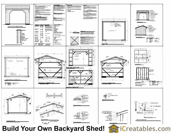 12x12 run in shed construction plans