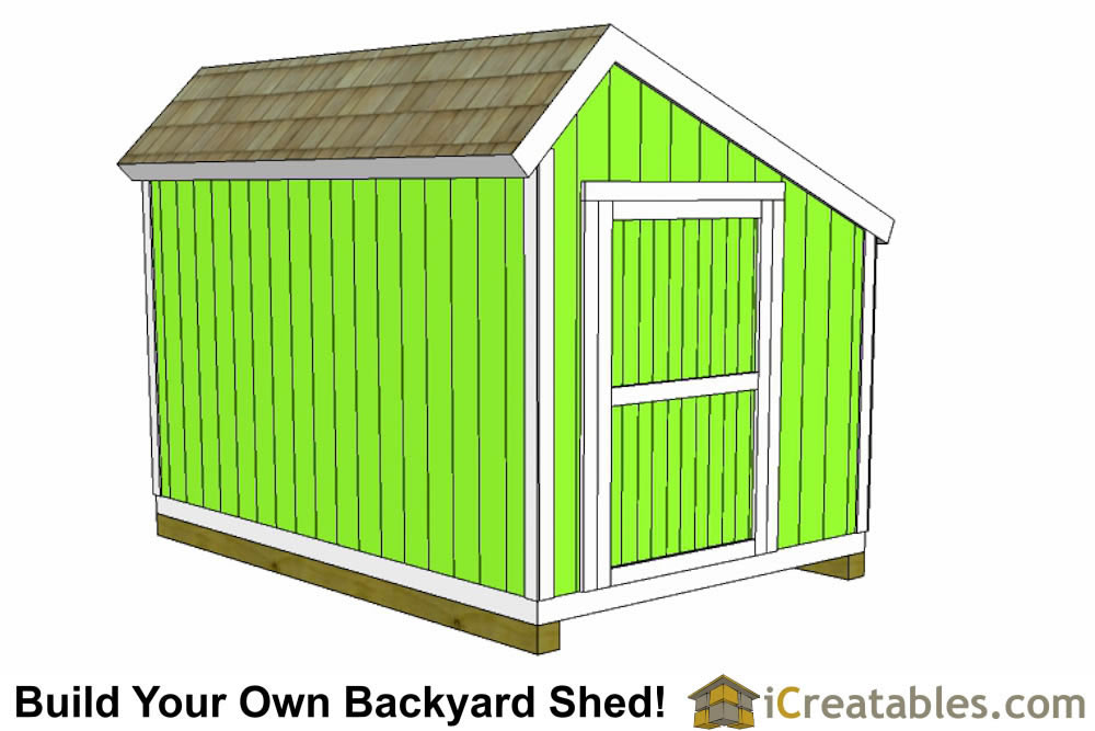 10x12 salt box shed plans front