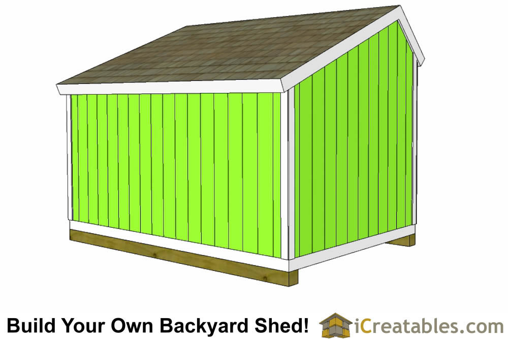 10x12 saltbox shed right