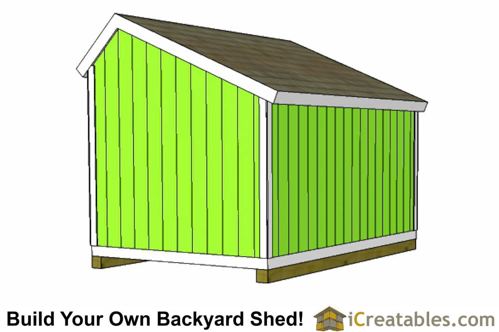 10x12 saltbox shed plans rear