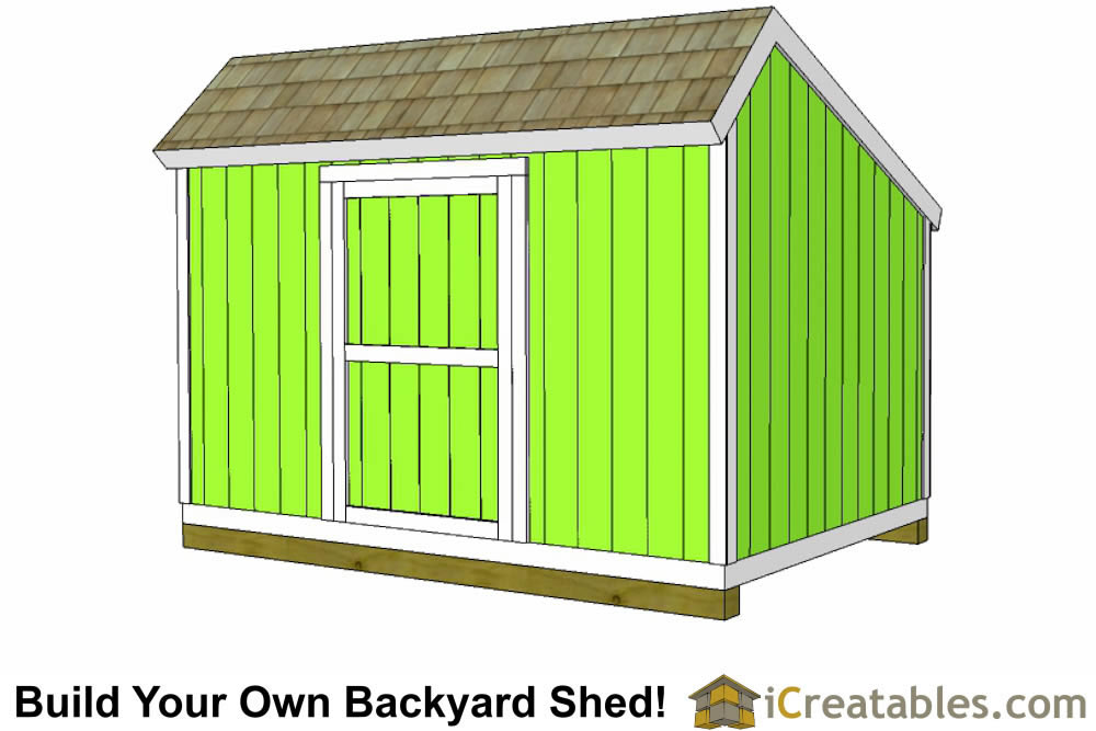10x12 Salt Box Shed Plans Saltbox Storage Shed