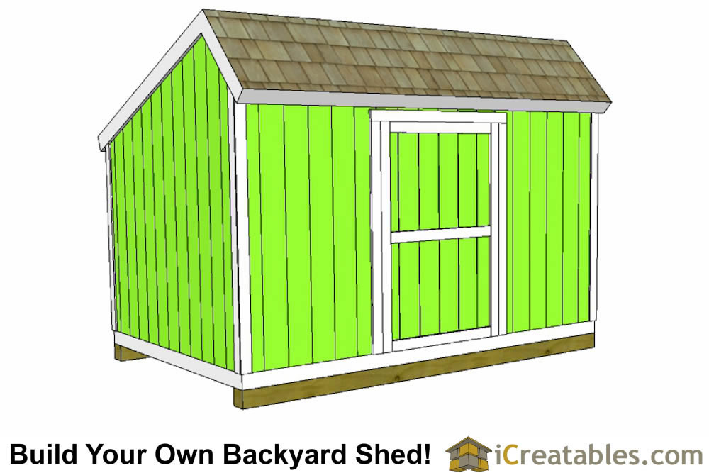 10x12 colonial shed with large door