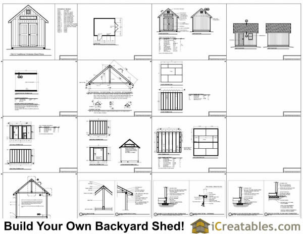 10x12 Traditional Victorian Garden Shed Plans