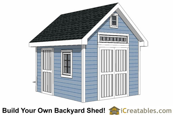 10x12 traditional victorian garden shed plans icreatablescom