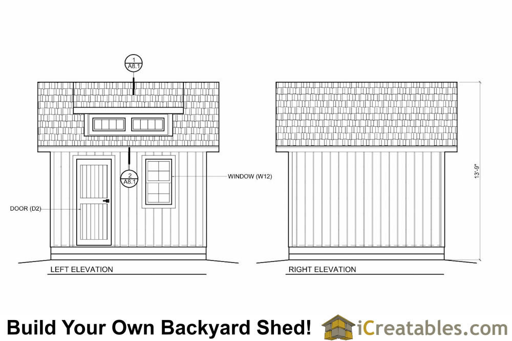 10x12  shed with dormer and loft plans