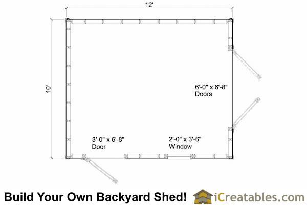 10x12 Cape Cod Shed Plans