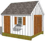 garden shed elevation