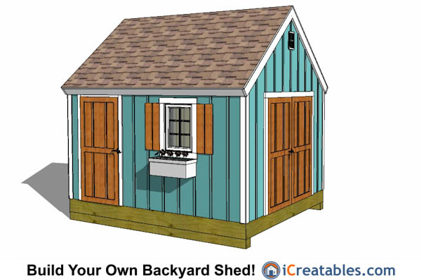 10x12 shed plans building your own storage shed Cape cod shed plans