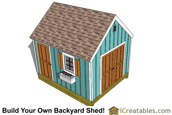 10x12 shed plan top