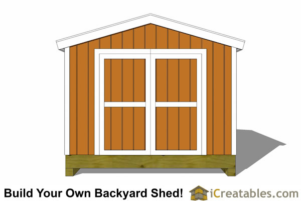 10x12 shed plan front