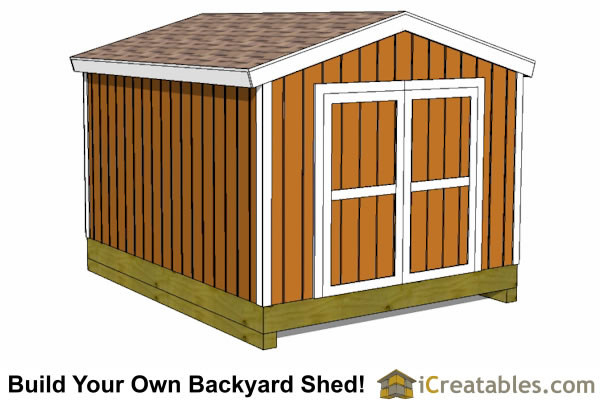 10x12 gable shed. 10x12 Shed Plans   Building Your Own Storage Shed   iCreatables
