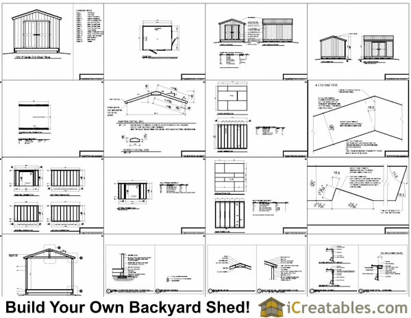 10x12 Gable Shed Plans Specifications Overview