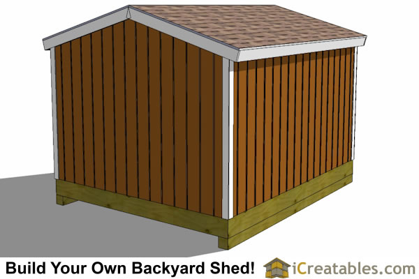 10x12 shed plan rear