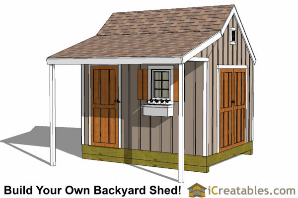 10x12 cape cod shed with porch