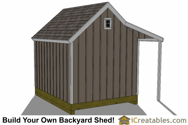 8x10 cape cod shed with porch shed plan rear