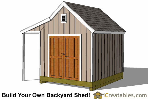 8x10 cape cod new england storage shed plan front