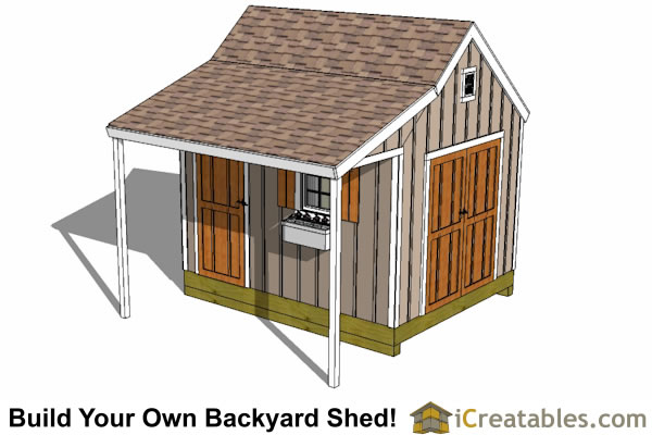10x12 Cape Cod Storage Shed Plan Top ...