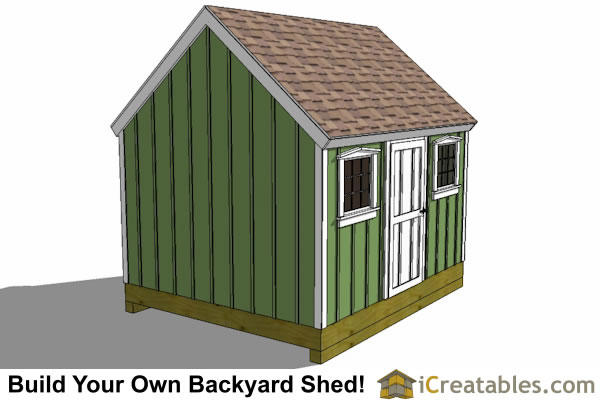 10x12 colonial shed plans for Colonial shed plans