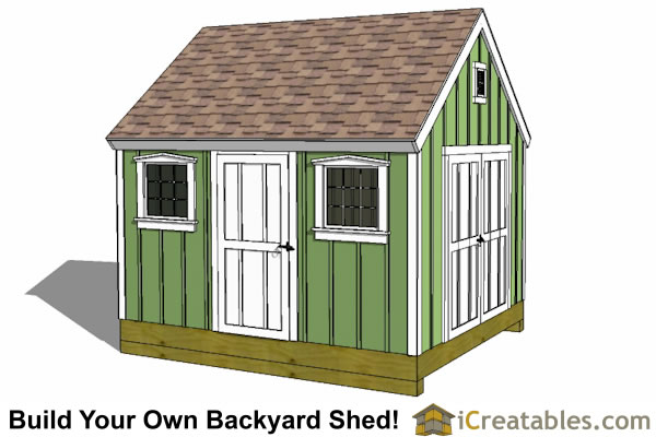 10x12 colonial shed plan