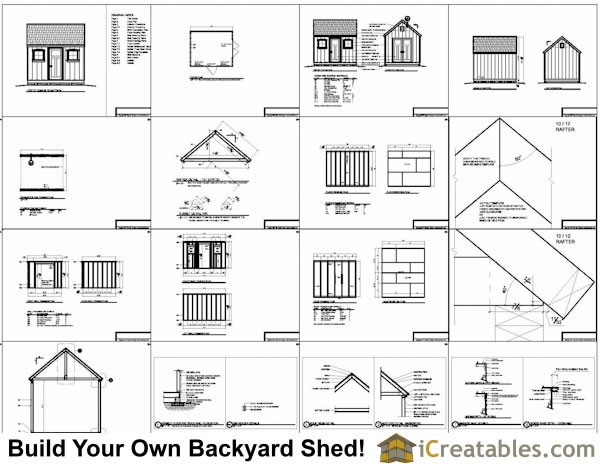 10x12 colonial shed plans for Shed plans and material list