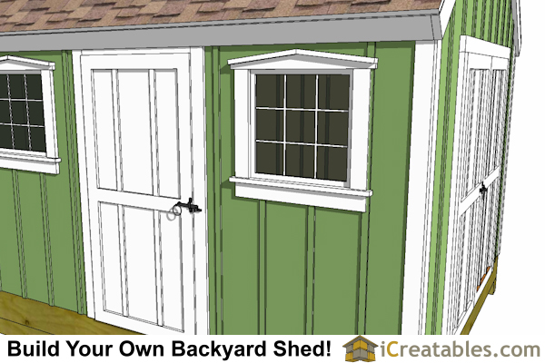 shed plans window and door detail