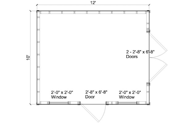 10 by 12 shed plans