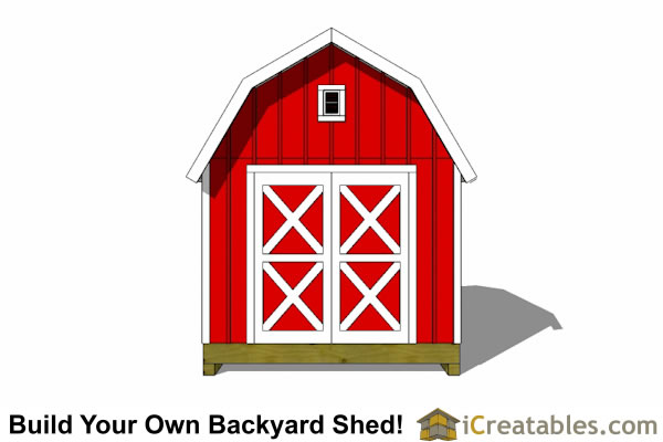 10x12 gambrel shed end