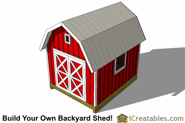 10x12 large gambrel barn shed plans