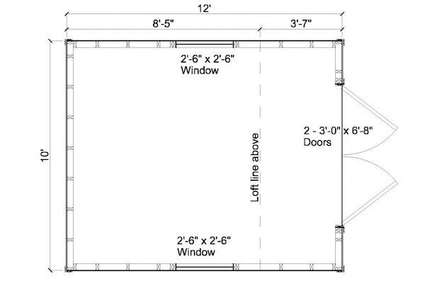 Pdf how to build a 10 12 wood shed diy free plans download for Shed floor plans