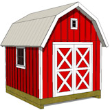 Barn Shed Plans - Gambrel Shed Plans