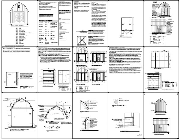 Here a 10x12 gambrel roof shed plans shed plans for free for Free barn blueprints