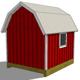 10x12 gambrel shed plan rear