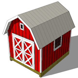 10x12 gambrel barn shed top