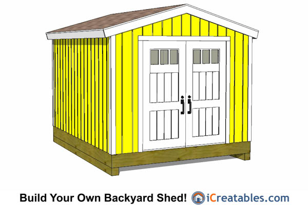10x12 gable shed tall large