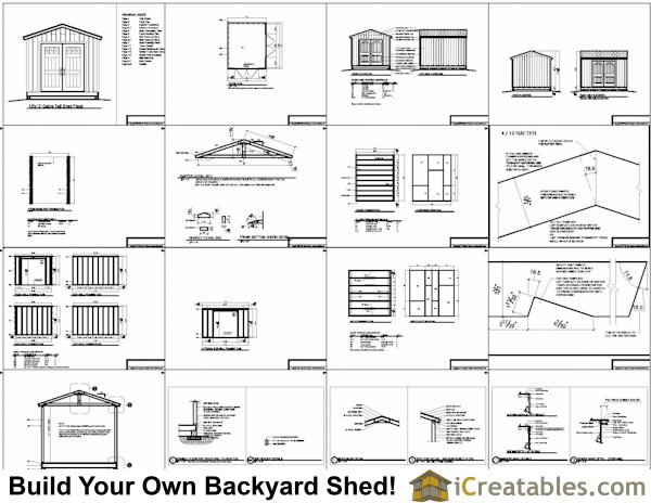 Free 10x12 shed plans gable roof wooden motorbike shed for Free cupola plans