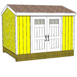 10x12 gabel shed door on side
