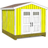 10x12 tall storage shed front