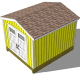 10x12 tall storage shed end