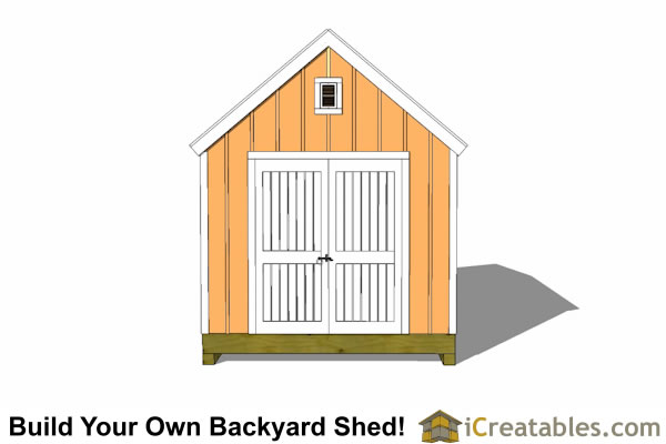 10x12 garden shed plan front