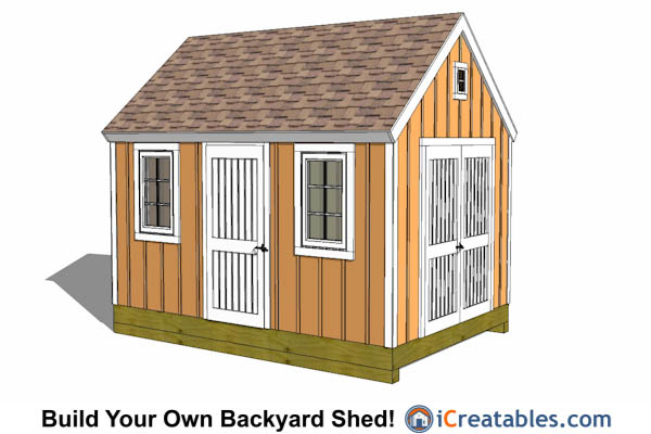 10 x 14 colonial shed plans frank c for Large storage shed plans