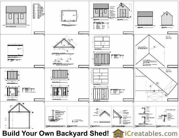 10x14 shed plans example