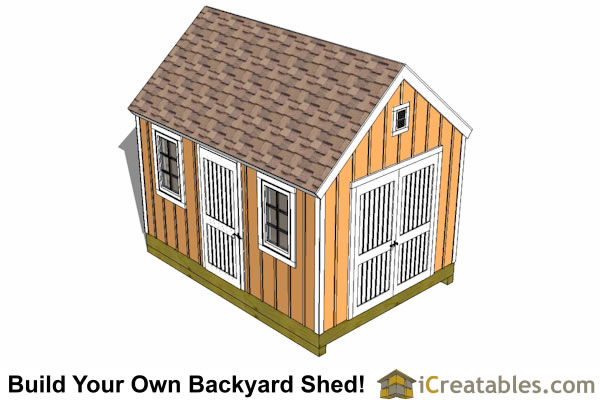 10x14 garden shed plan top view