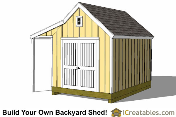 10x14 Colonial garden shed large door