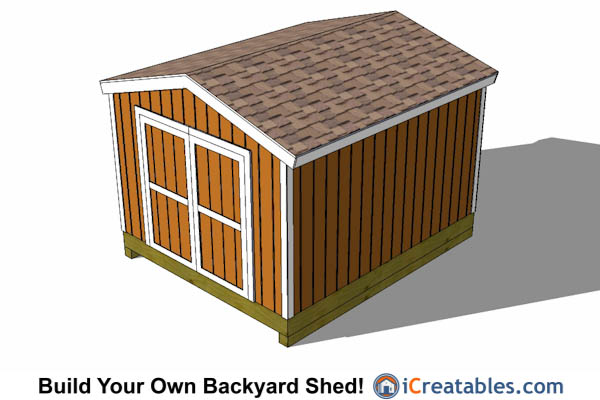 10'x14' Gable Shed with Tall Factory Door