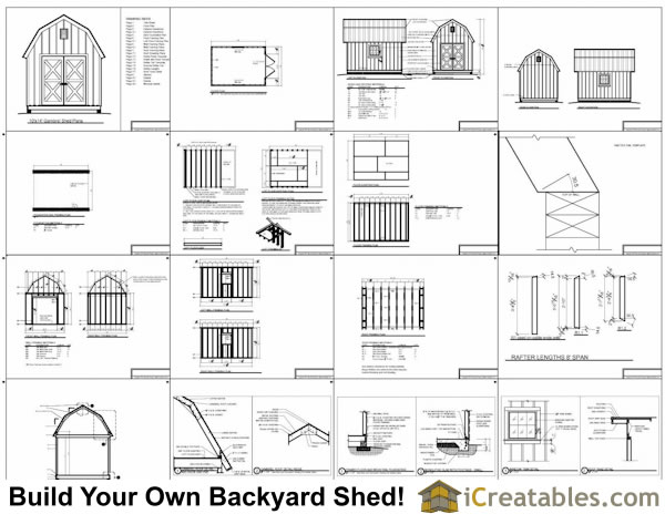 10x14 small barn shed plans example